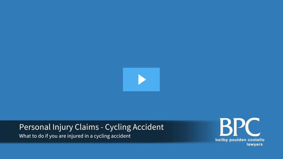 Injured in a Cycling Acciden? Contact BPC Lawyers today.